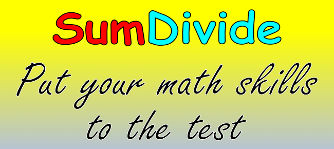 SumDivide math puzzle