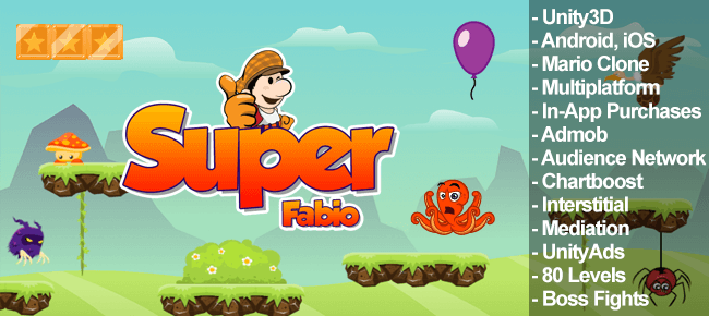 Super Fabio Unity3D Mario style game - Sell My App