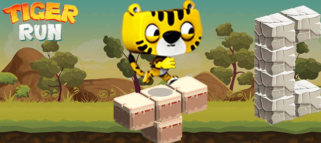 Tiger Adventure Run, Reskinned Game Template. Ready For Launch - Sell My App