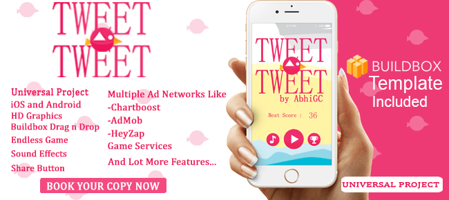 Tweet Tweet Buildbox Template - Sell My App