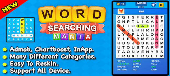 Word Searching Mania