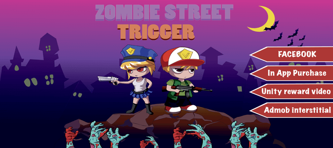 Zombie Street Trigger Unity Template - Sell My App